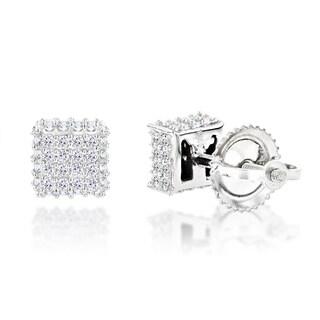 Luxurman 10k Gold 2/5ct Diamond Stud Earrings (H-I, SI1-SI2)