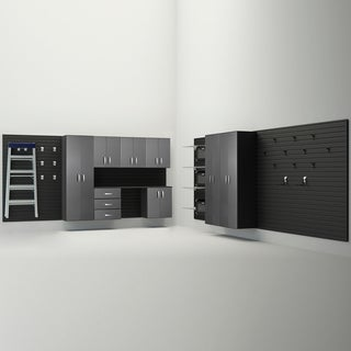 Flow Wall Black 13-piece Deluxe Cabinet Set
