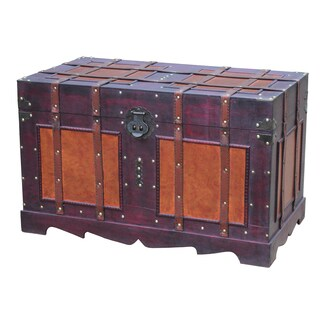 Antique Style Steamer Trunk - Red