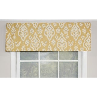 RLF Home Raji Straight Window Valance - Saffron