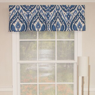 Lima Blue Staight Valance