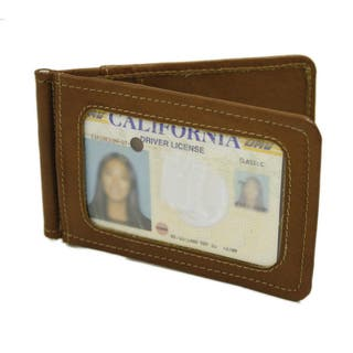 Piel Leather Bi-Fold Money Clip with ID Window|https://ak1.ostkcdn.com/images/products/10953226/P17979173.jpg?impolicy=medium