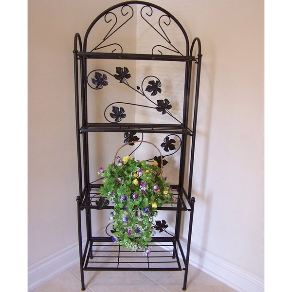Shop 63 Inch Sun Valley Iron Baker S Rack Free Shipping