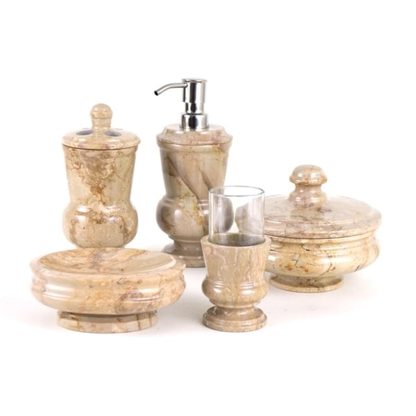 Nature home decor mediterranean collection sahara beige for Beige bathroom set