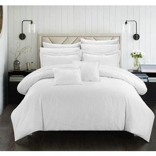 Maison Rouge Byron Down Alternative Jacquard White Striped 7-piece Comforter Set