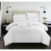 Maison Rouge Byron Down Alternative Jacquard White Striped 7-piece Comforter Set