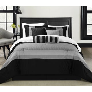 Chic Home Delmonte Black 8-Piece Comforter Set