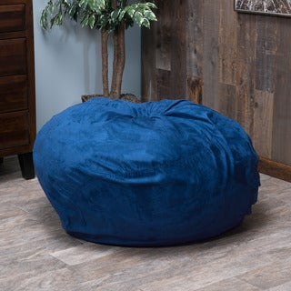 Christopher Knight Home Sammy Faux Suede 3-foot Lounge Beanbag Chair