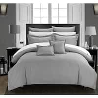 Chic Home 11-Piece Keynes Silver Comforter Set