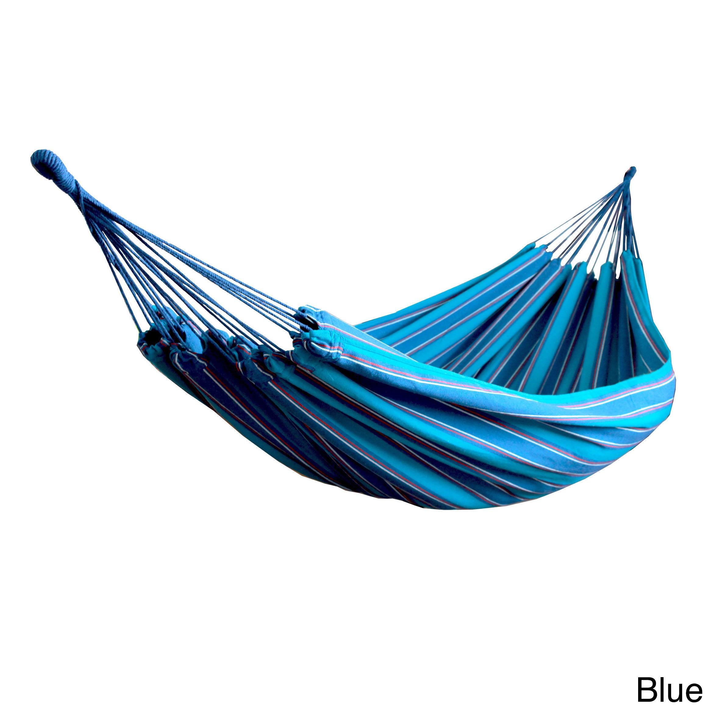 picture 6 of 10     hammaka brazilian double hammock blue 2 person   ebay  rh   ebay