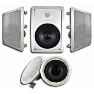 Acoustic Audio HT-85 In-Wall/ Ceiling Home 5.1 Theater 8-inch Speaker System 1500W