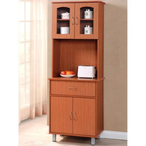 Hodedah Wood Kitchen Cabinet