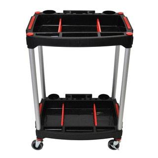 Luxor 2 Shelf Mechanics Cart 4 Casters