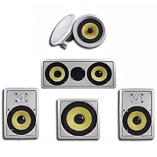 Acoustic Audio HD518 In-Wall/ Ceiling Home Theater 8-inch Surround 5.1 Speaker System