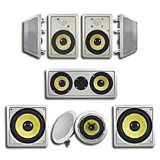 Acoustic Audio HD726 In-Wall/ Ceiling Home Theater Surround 7.2 Speaker System