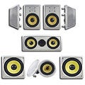Acoustic Audio HD728 In-Wall/ Ceiling Home Theater 7.2 Surround 8-inch Speaker System