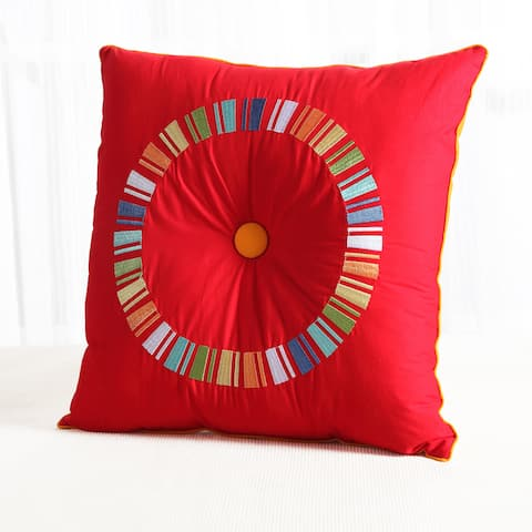 Fiesta Circle Decorative 18 x 18 Throw Pillow