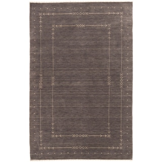 ecarpetgallery Kashkuli Gabbeh Grey Wool Rug (4' x 6')