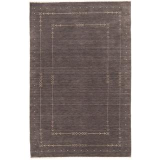 ecarpetgallery Kashkuli Gabbeh Grey Wool Rug (6' x 9')