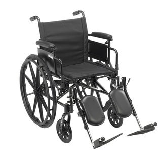 "Cruiser X4 Lightweight Dual-Axle Wheelchair with Adjustable Detatchable Arms (Desk Arms, Elevating Leg Rests, 18"" Seat)"