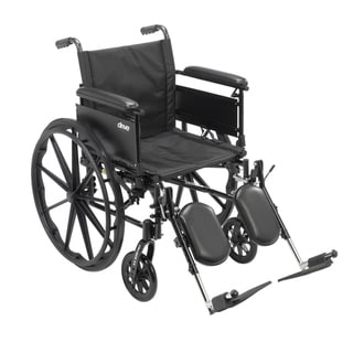 "Cruiser X4 Lightweight Dual-Axle Wheelchair with Adjustable Detatchable Arms (Full Arms, Elevating Leg Rests, 20"" Seat)"