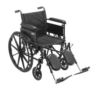"Cruiser X4 Lightweight Dual-Axle Wheelchair with Adjustable Detatchable Arms (Full Arms, Elevating Leg Rests, 16"" Seat)"