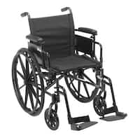 Drive Medical Cruiser X4 Lightweight Dual Axle Wheelchair with Adjustable Detatchable Arms