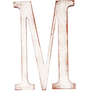 Mahogany 'M' Wooden Decorative Letter