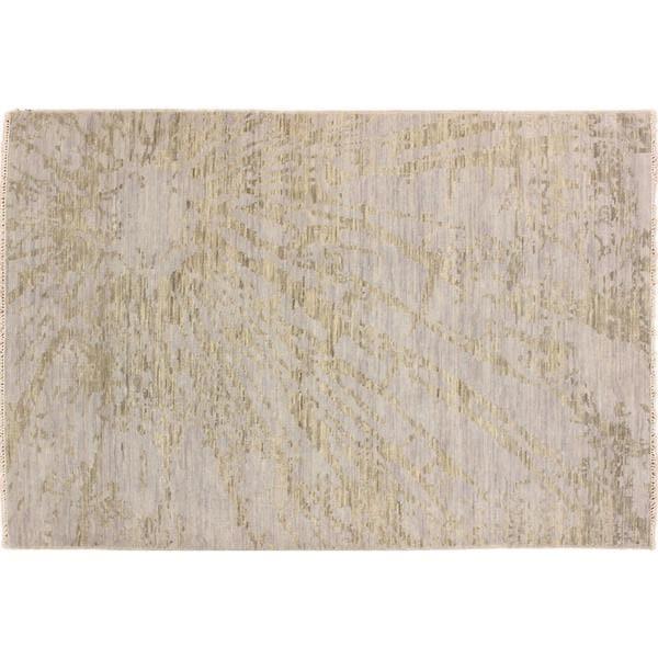 Oushak Khshayarsha Blue Hand-knotted Rug (6' x 8'10)