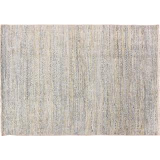 Oushak Majnoon Blue Hand-knotted Rug (6' x 8'9)