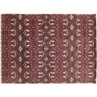 Oushak Orazaiym Purple Hand-knotted Rug (6'3 x 9')