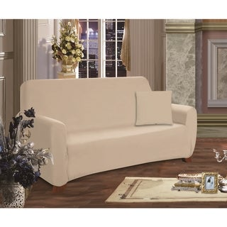 Link to Elegant Comfort Jersey Stretch Loveseat Slipcover Similar Items in Slipcovers & Furniture Covers