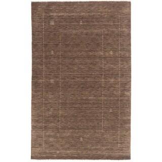ecarpetgallery Kashkuli Gabbeh Brown Wool Rug (5' x 8')