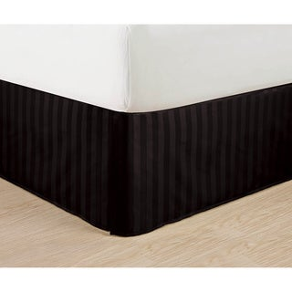 Elegant Comfort Dobby Stripe Bed Skirt