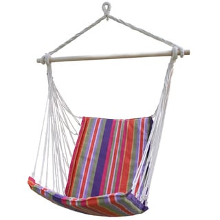 Adeco Cotton Fabric Hanging Chair With High Back
