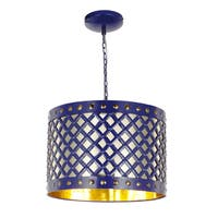 Audriana Metal Ceiling Lamp (Blue)
