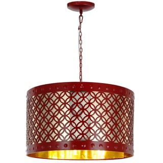 Audriana Metal Ceiling Lamp (Red)