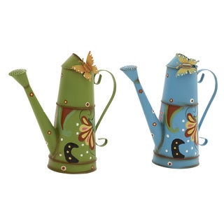 Assorted Metal Butterfly Watering Cans (Set of 2)