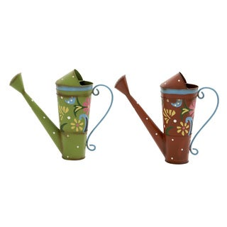 Assorted Metal Watering Cans (Set of 2)