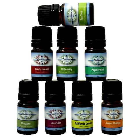 Essential Oil Top 8 Starter Variety Gift Set by Destination Oils 100-percent Pure