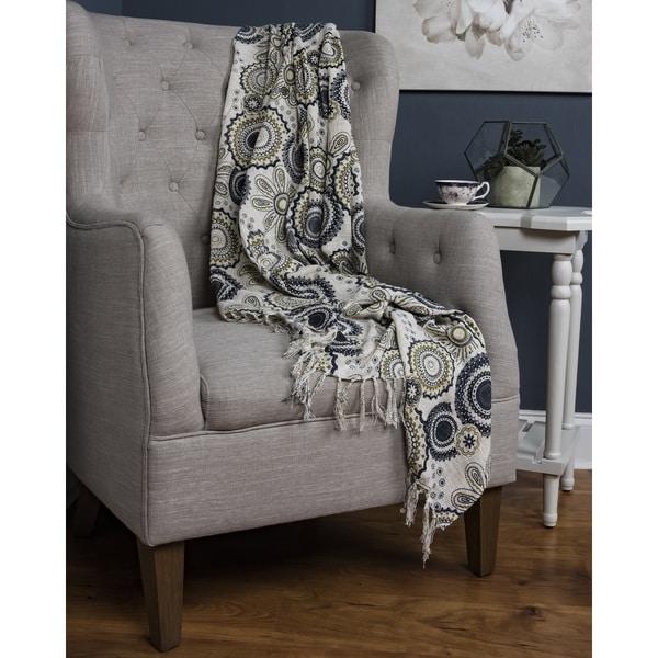 Arden Loft Dashiell Luxury Woven Cotton Throw Blanket