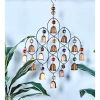Studio 350 Metal Bead Bell Windchime 18 inches wide, 27 inches high