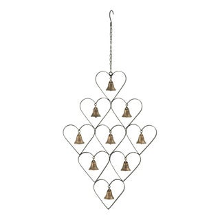 Metal Bell Heart Wind Chime