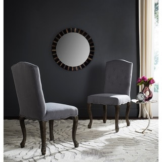 Safavieh Old World Dining Vicky Artic Grey Side Chairs (Set of 2)
