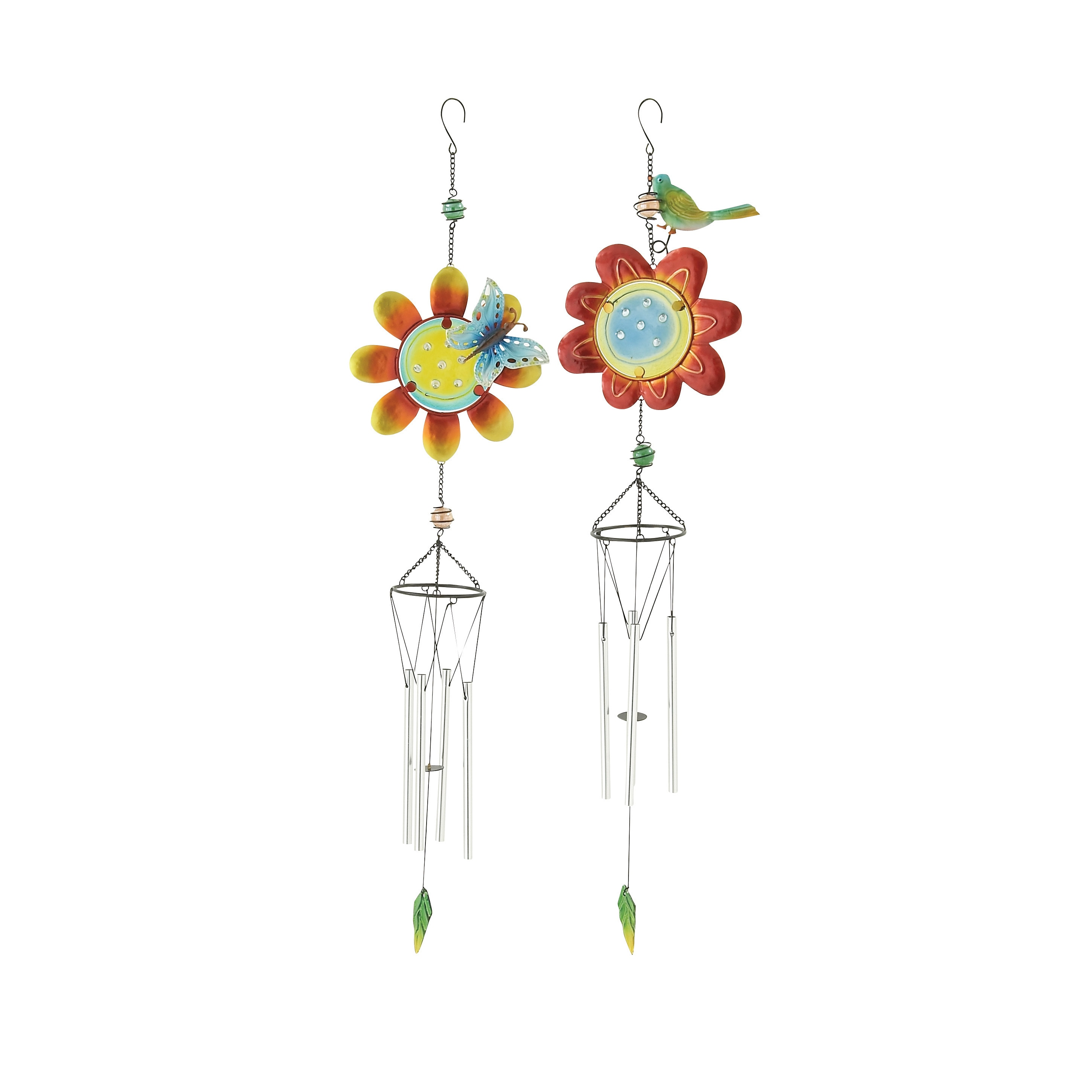 Studio 350 Assorted Colorful Glass Metal Wind Chimes (Set...