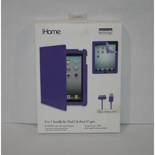 iHome IH-IP1107UBD Purple Folio Tablet Case for iPad 2 and iPad 3