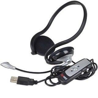 Gigaware 43-203 Wrap around USB Stereo Headset with Mic and Inline Volume Control