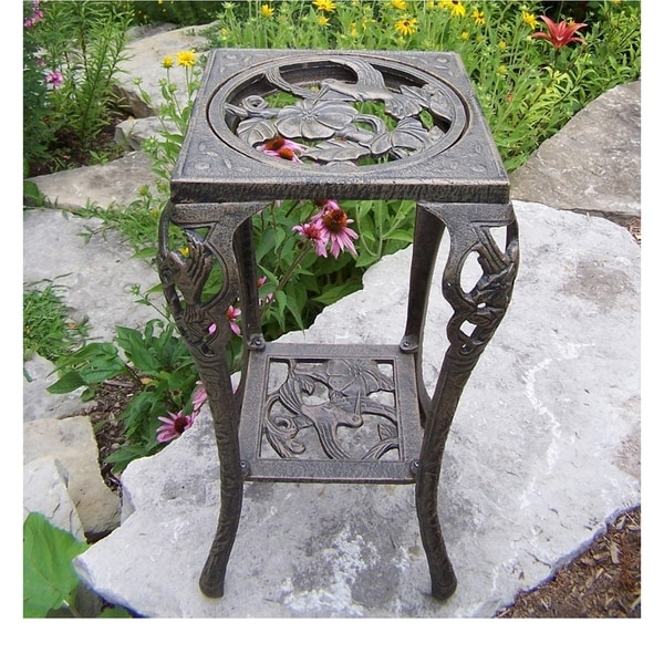 Hummingbird iron table plant stand free shipping today for Table 52 hummingbird cake