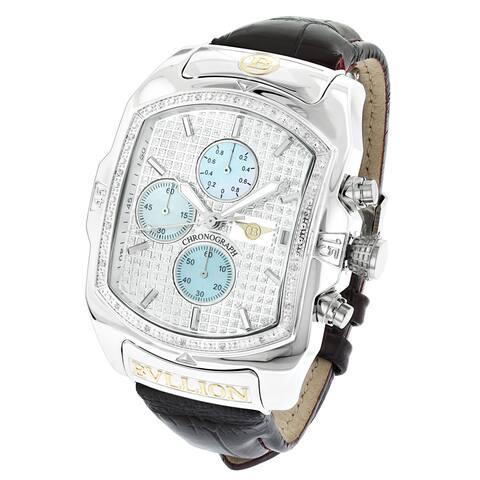 Luxurman Bullion Men's Diamond Large Bubble Chronograph Watch