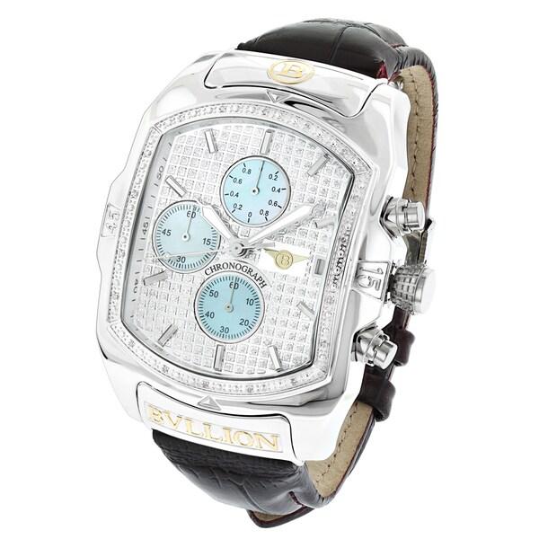 4913a8885d1 Shop Luxurman Bullion Men s Diamond Large Bubble Chronograph Watch ...